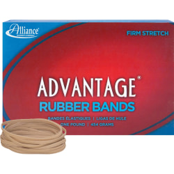 "Alliance® Advantage® Rubber Bands In 1-Lb Box, #33, 3 1/2"" x 1/8"", Box Of 600"
