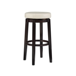 Linon Home Décor Products Alice Bar Stool, Rice/Brown