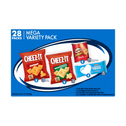 Kellogg's 4-Flavor Mega Snack Variety Pack, Box of 28 Snack Packs