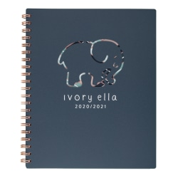 """Cambridge® Ivory Ella Die-Cut Academic Weekly/Monthly Wirebound Planner, 8-1/2"""" x 11"""", Multicolor, July 2020 To June 2021, 1380-905A"""