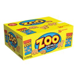 Austin® Zoo Animal Crackers, 2 Oz, Case Of 36