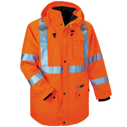 Ergodyne GloWear® 8385 Type R Class 3 High-Visibility 4-In-1 Jacket, 4X, Orange