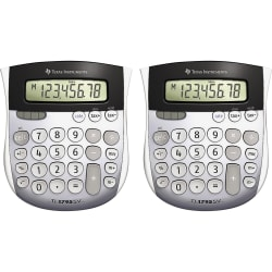"""Texas Instruments TI-1795SV SuperView Calculator - 8 Digits - LCD - Battery/Solar Powered - 1"""" x 4.3"""" x 5.1"""" - Gray - 2 /"""