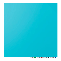 """Ghent Aria Magnetic Dry-Erase White Board, Glass, 48"""" x 48"""", Blue"""