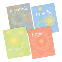"Barker Creek Art Print Set, 8"" x 10"", Mindfulness, Set Of 4 Prints"