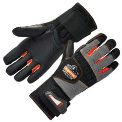 Ergodyne ProFlex 9012 Certified Anti-Vibration Gloves With Wrist Support, Extra Large, Black