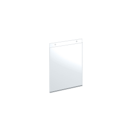 """Azar Displays Wall-Mount U-Frame Acrylic Sign Holders, 10"""" x 8"""", Clear, Pack Of 10"""
