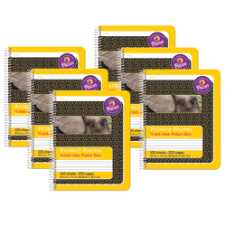 """Pacon® Primary Composition Books, 9-3/4"""" x 7-1/2"""", Primary Ruled, 100 Sheets, Yellow, Pack Of 6 Books"""