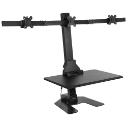 Mount-It! MI-7983 Triple-Monitor Electric Standing Desk Converter, Black