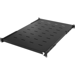 """CyberPower Carbon CRA50005 Rack Shelf - For Monitor, Server - 1U Rack Height x 19"""" Rack Width x 32.70"""" Rack Depth - Rack-mountable - Black - Cold-rolled Steel (CRS) - 175 lb Static/Stationary Weight Capacity"""