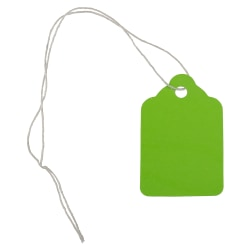 "JAM Paper® Gift Tags, 1 3/4"" x 1 1/8"", Lime Green, Pack Of 50"