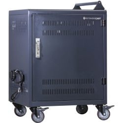 """Anywhere Cart 30 Bay Configurable Charging Cart - 4 Casters - 4"""" Caster Size - Metal - 26"""" Width x 20"""" Depth x 34.5"""" Height - For 30 Devices"""