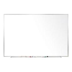 "Ghent Magnetic Porcelain Whiteboard, 48"" x 96"", Silver Aluminum Frame"