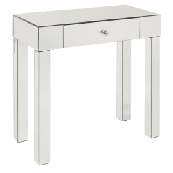 Ave Six Reflections Table, Foyer, Rectangular, Silver Mirror
