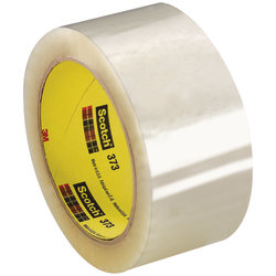 "Scotch® 373 Carton-Sealing Tape, 3"" Core, 2"" x 110 Yd., Clear, Pack Of 6"