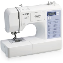 Brother Project Runway CS5055PRW Electric Sewing Machine - Horizontal Bobbin System - 50 Built-In Stitches - Automatic Threading - Portable