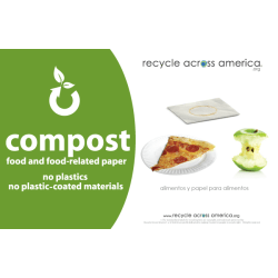 """Recycle Across America Compost Standardized Labels, COMP-5585, 5 1/2"""" x 8 1/2"""", Green"""