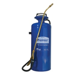 Premier Pro Tri-Poxy Steel Sprayer, 3 gal, 18 in Extension, 42 in Hose, Blue
