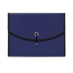 "Office Depot® Brand 7-Pocket Expanding File, 7"" Expansion, Letter Size, Blue"
