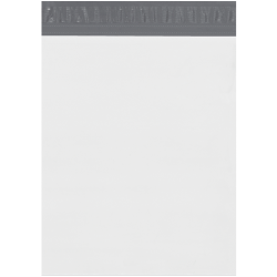 "Partners Brand Expansion Poly Mailers, 13""H x 16""W x 4""D, White, Case Of 100"
