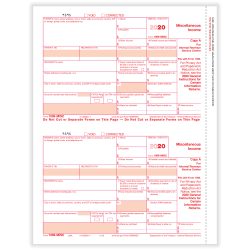 """ComplyRight 1099-MISC Tax Forms, Federal Copy A, 2-Up, Laser, 8-1/2"""" x 11"""", Pack Of 50 Forms"""