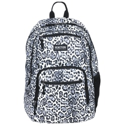 "Kenneth Cole Reaction Polyester Double Gusset Computer Backpack With 15.6"" Laptop Pocket, White Leopard"