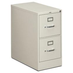 "HON® 310 26-1/2""D Vertical 2-Drawer Legal-Size File Cabinet, Metal, Light Gray"