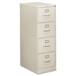 "HON® 310 26-1/2""D Vertical 4-Drawer Legal-Size File Cabinet, Metal, Light Gray"