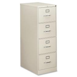 "HON® 310 26-1/2""D Vertical 4-Drawer Legal-Size File Cabinet, Metal, Light Gray"