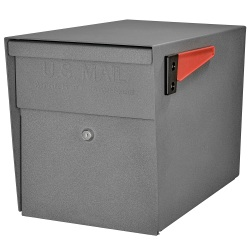 "Mail Boss™ Curbside Locking Mailbox, 13 3/4"" x 11 1/4"" x 21"", Granite"