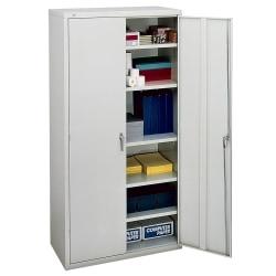 "HON® Brigade Storage Cabinet, 5 Adjustable Shelves, 72""H x 36""W x 18-1/4""D, Light Gray"
