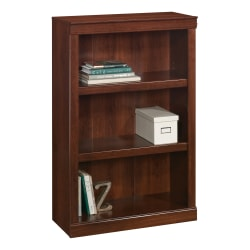 """Realspace® 45""""H 3-Shelf Bookcase, Mulled Cherry"""