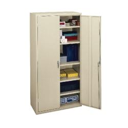 """HON® Brigade® Storage Cabinet, 5 Adjustable Shelves, 72""""H x 36""""W x 24 1/4""""D, Putty"""