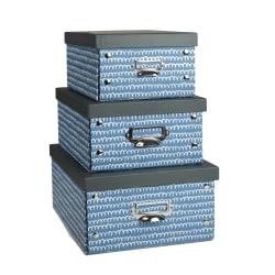 GNBI Snap Storage Boxes, Multicolor, Pack Of 3 Boxes