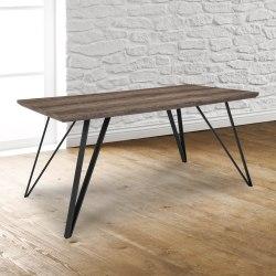 "Flash Furniture Rectangular Dining Table, 29-1/4""H x 31-1/2""W x 63""D, Distressed Light Brown"