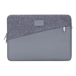 """RIVACASE Egmont 7903 Sleeve With 13"""" Laptop Pocket, Gray"""