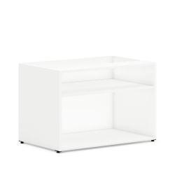 "HON Mod Low Storage Credenza - 30"" x 20"" x 21"" - Finish: Simply White, Laminate"