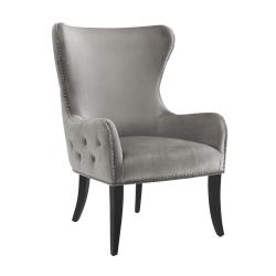 Linon Jules Round Back Chair, Dark Gray
