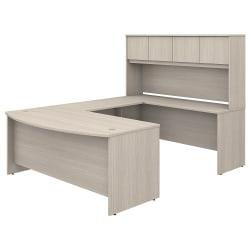 Bush Business Furniture Studio C U-Shaped Desk With Hutch And Mobile File Cabinet, Sand Oak, Standard Delivery