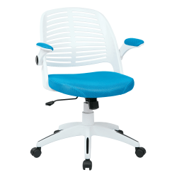 Ave Six Tyler Polyester Mid-Back Office Chair, Blue/White