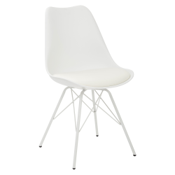 Ave Six Emerson Student Side Chair, White