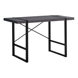 "Monarch Specialties Jared 49""W Computer Desk, Gray/Black"