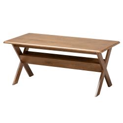 """Baxton Studio Transitional Coffee Table, 17-9/16""""H x 41""""W x 20-7/8""""D, Walnut Brown"""
