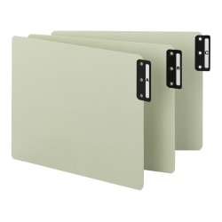 Smead® Pressboard End-Tab Guides, A-Z, Vertical, Extra-Wide Letter-Size, 100% Recycled, Gray/Green, Pack Of 25