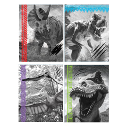"Inkology 2-Pocket Portfolios, 11-3/4"" x 9-1/2"", Letter Size, Dinosaurs, Pack Of 24 Portfolios"