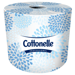 Cottonelle Bulk Standard 2-Ply Toilet Paper, 25% Recycled, White, 451 Sheets Per Roll, Case Of 60 Rolls