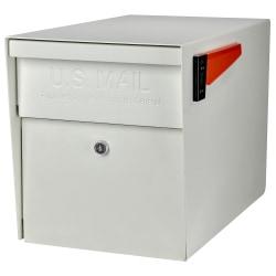 "Mail Boss™ Curbside Locking Mailbox, 13 3/4"" x 11 1/4"" x 21"", White"