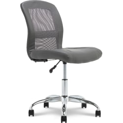 Serta® Essentials Mid-Back Computer Chair, Productivity Gray/Chrome