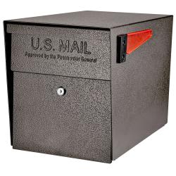 """Mail Boss™ Curbside Locking Mailbox, 13 3/4"""" x 11 1/4"""" x 21"""", Bronze"""
