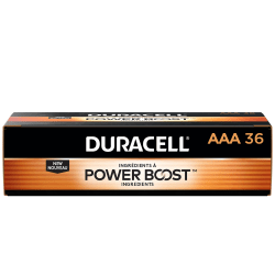 Duracell® Coppertop AAA Alkaline Batteries, Box Of 36